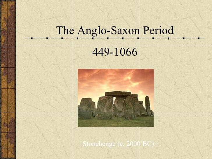 the anglo saxon period The anglo-saxons were a people who inhabited great britain from the 5th century  the anglo-saxon period denotes the period in britain between about 450 and 1066, .