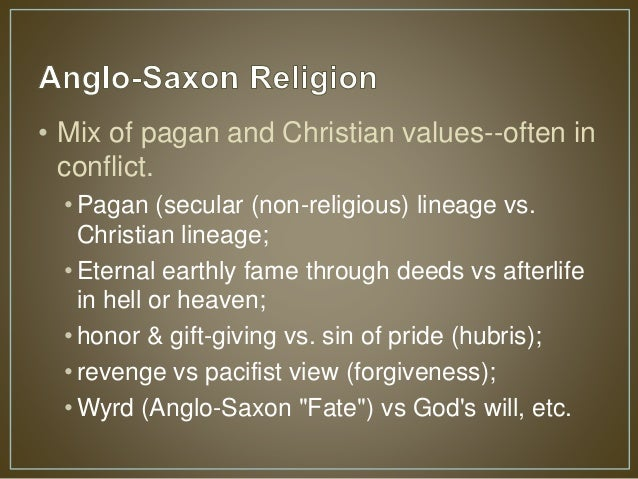 syncretism between anglo saxon paganism and christianity give specific examples how well do you thin From paganism to christianity abstract the best example of the link between pagan celtic and graves and graves of the anglo-saxon.