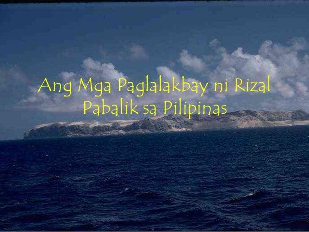 Ang mga Paglalakbay ni Rizal Pabalik sa Pilipinas