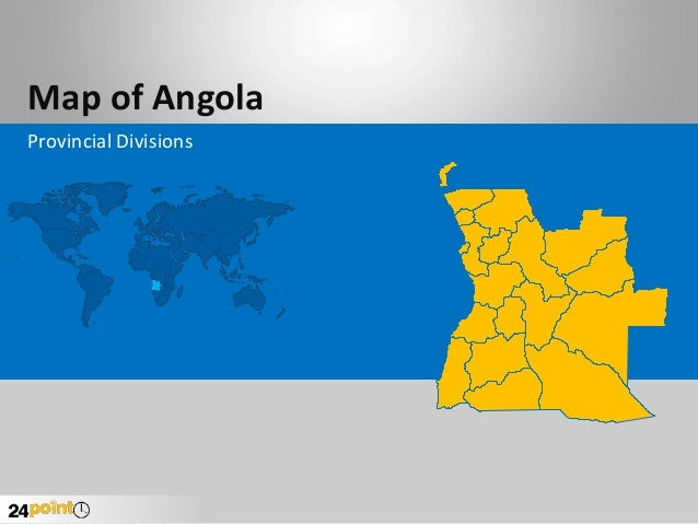 Map of Angola Provincial Divisions