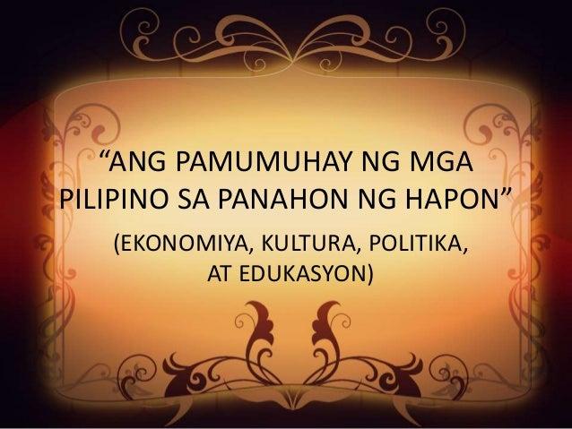 edukasyon sa panahon ng hapon Ang sistemang edukasyon ng pilipinas ay gingagamit lamang bilang instrumento  ng  may batas na ginawa pa noong panahon ni marcos, ang pd 1177,.
