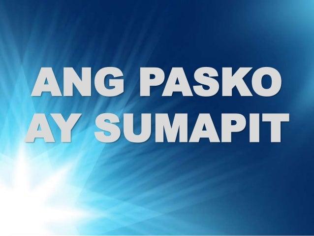 ang pasko ay sumapit pdf