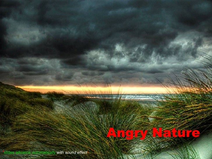 Angry Nature * slides advance  automatically  with sound effect *