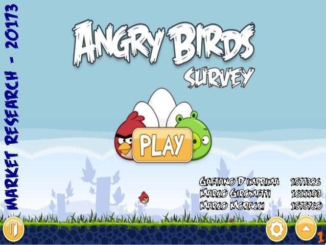 Angry birds: situazione attuale e possibilità di sviluppo