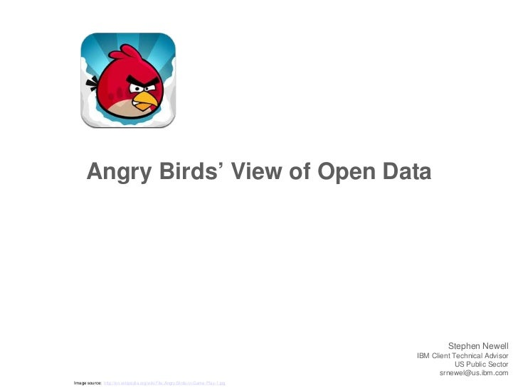 Angry Birds' View of Open Data                                                                                          St...