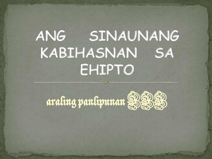 araling panlipunan III