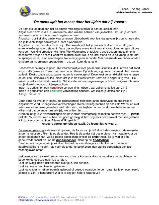 ©SEG int. VOF   Lekdijk 173   2957 CG Nw. Lekkerland.   T: 0184 68 57 25   F: 0184 68 64 82   M: 062 888 555 3   Info@Opti...