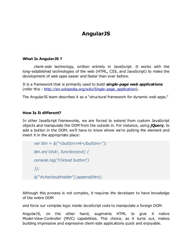 AngularJS Basics
