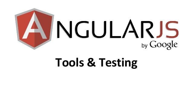 AngularDevConf - Tools and testing