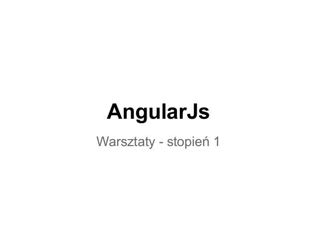 AngularJsWarsztaty - stopień 1