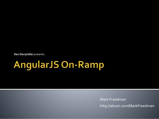 AngularJS On-Ramp