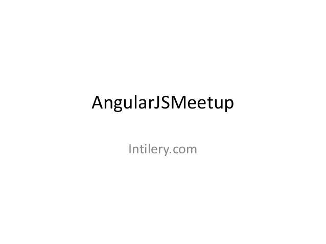 Angular meetup