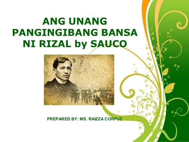 Free Powerpoint Templates Page 1 Free Powerpoint Templates ANG UNANG PANGINGIBANG BANSA NI RIZAL by SAUCO PREPARED BY: MS....