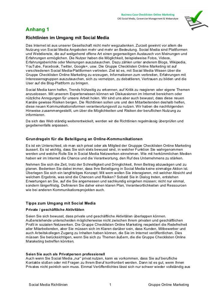 BusinessCaseChecklistenOnlineMarketing                                                         CASSocialMedia,Conv...