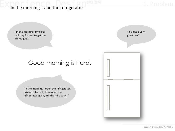 """In the morning… and the refrigerator                                                                    1. Problem  """"In th..."""