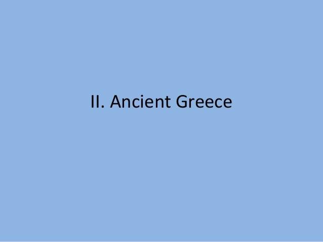 II. Ancient Greece