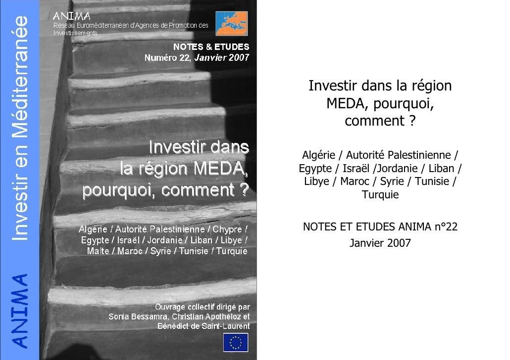 Investir dans la région MEDA