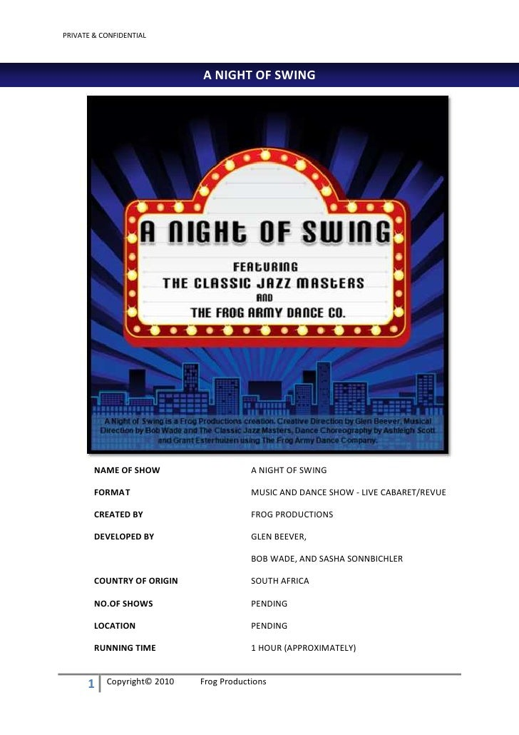 PRIVATE & CONFIDENTIAL                                  A NIGHT OF SWING             NAME OF SHOW                     A NI...