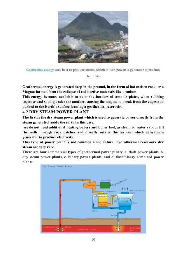 Geothermal energy essay