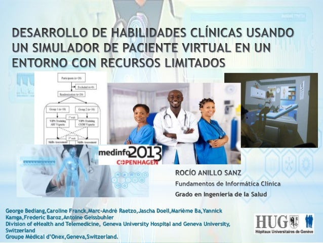Grado en Ingeniería de la Salud George Bediang,Caroline Franck,Marc-André Raetzo,Jascha Doell,Marième Ba,Yannick Kamga,Fre...