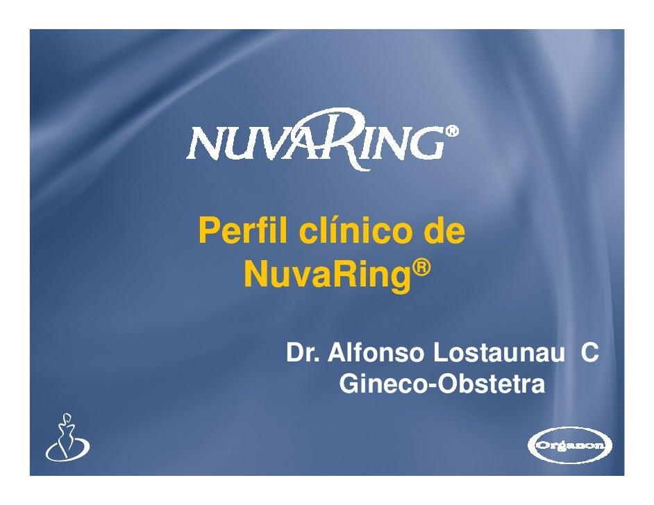 Perfil clínico de  NuvaRing®     Dr. Alfonso Lostaunau C          Gineco-Obstetra