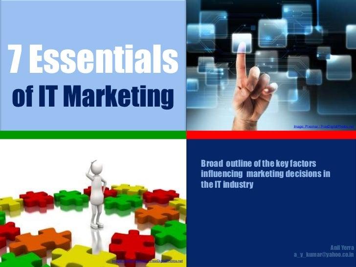 7 Essentials of IT Marketing