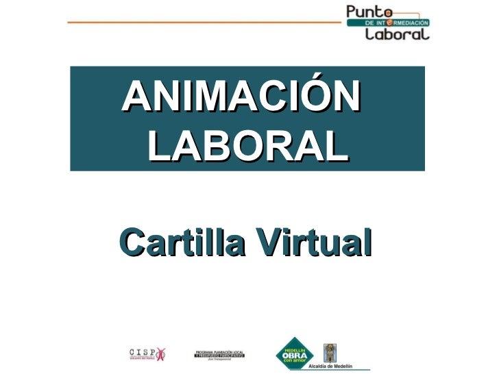 Cartilla Virtual ANIMACIÓN  LABORAL