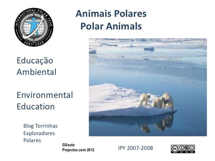 Animais Polares                          Polar AnimalsEducaçãoAmbientalEnvironmentalEducation Blog Torrinhas Exploradores ...