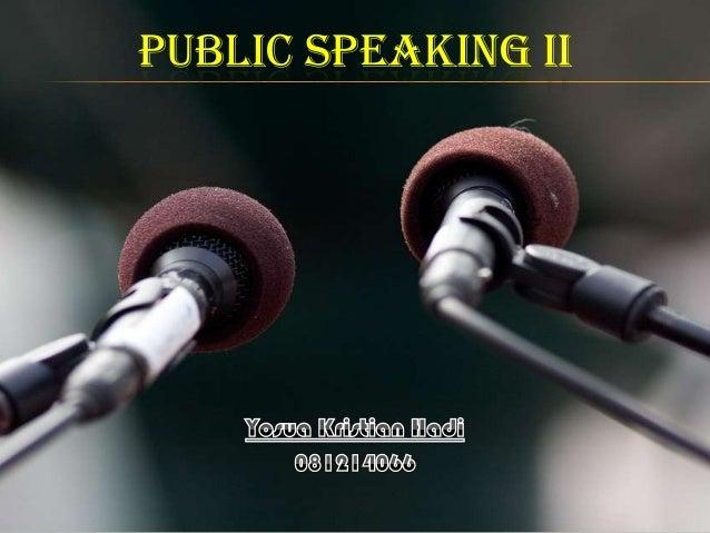 PUBLIC SPEAKING II