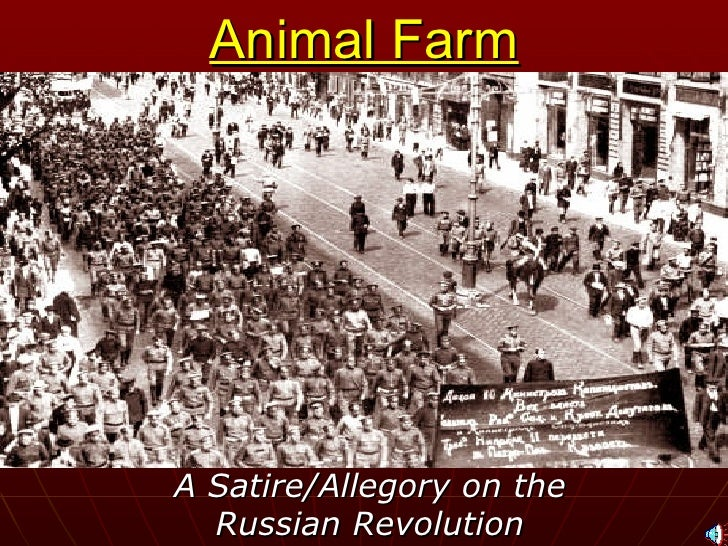 animal farm allegory revolution and In spite of orwell's well-known opposition to continued british rule in india (where burmese dayswas banned) he was hired in august 1941 to produce programmes for the indian section of the.