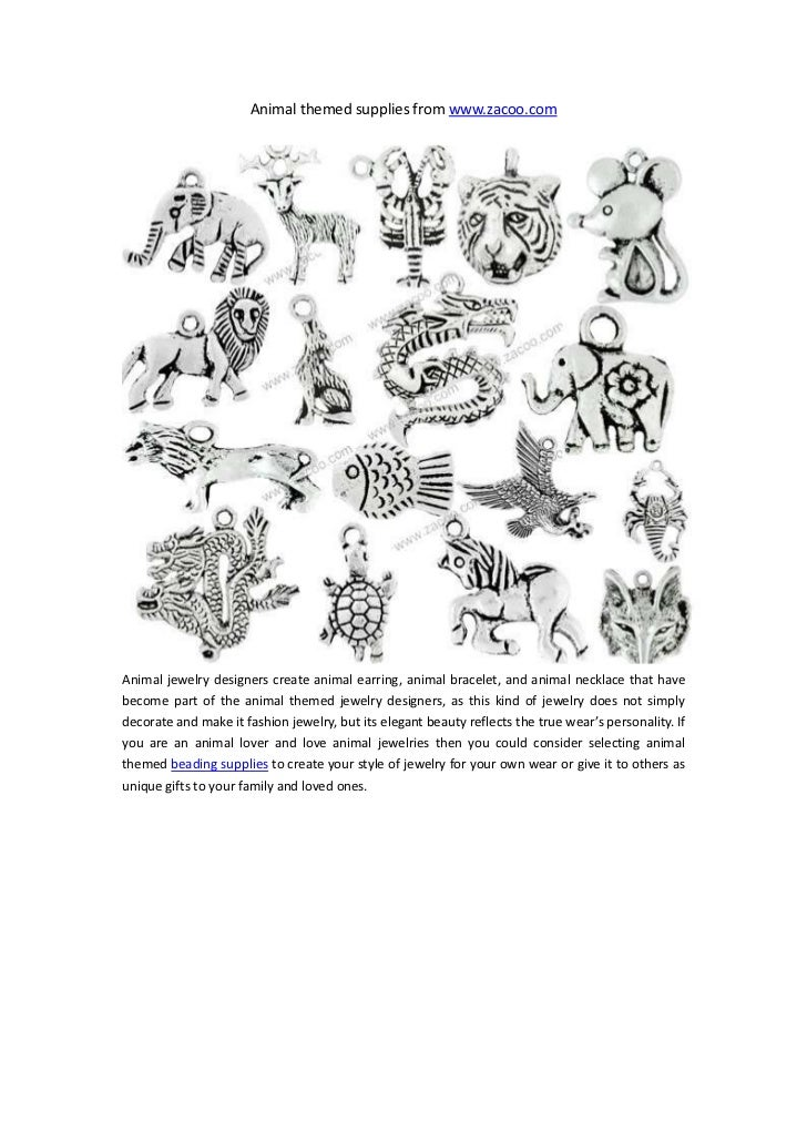 Animal themed supplies from www.zacoo.comAnimal jewelry designers create animal earring, animal bracelet, and animal neckl...