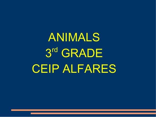 ANIMALS rd 3 GRADE CEIP ALFARES