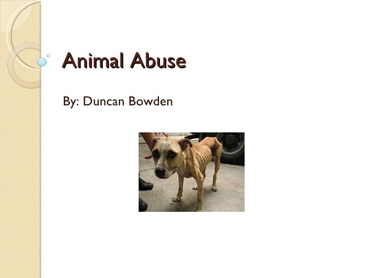 Animal Abuse By: Duncan Bowden