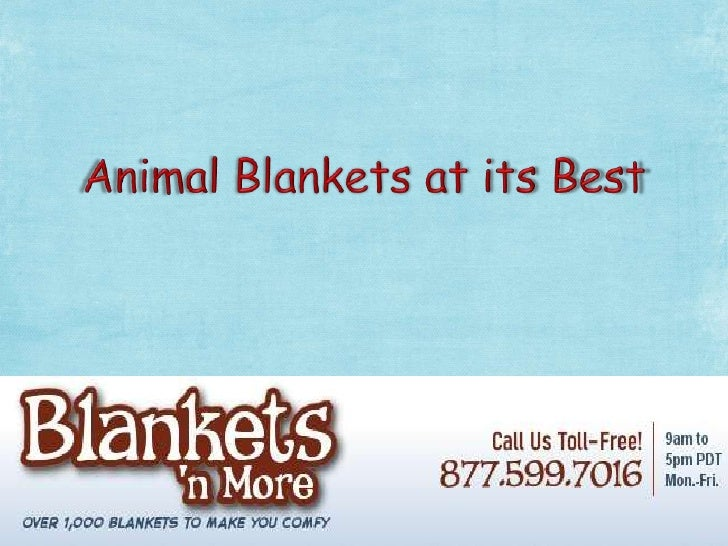 Animal blankets at its best