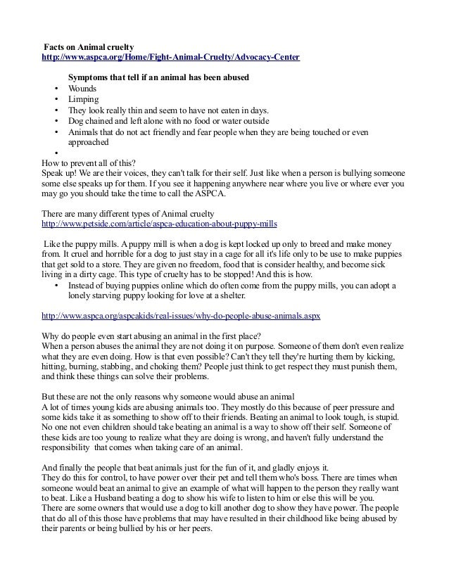 Abused animals research paper