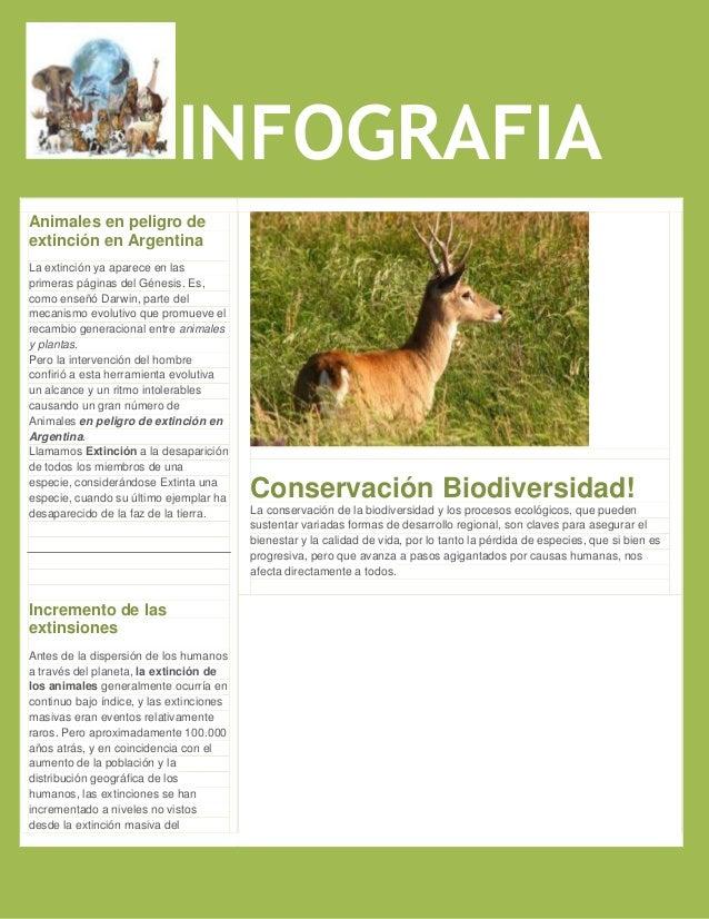 INFOGRAFIAAnimales en peligro deextinción en ArgentinaLa extinción ya aparece en lasprimeras páginas del Génesis. Es,como ...