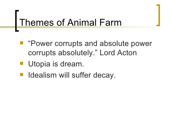 thesis statement on animal farm Animal farm essays - corruption of power in animal farm  this statement is certainly correct if the person with the power has certain proclivities towards corruption.
