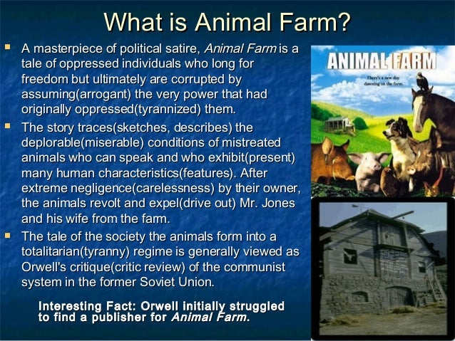 irony in animal farm essay Animalism, fear and propaganda in animal farm - with a free essay review - free essay reviews.