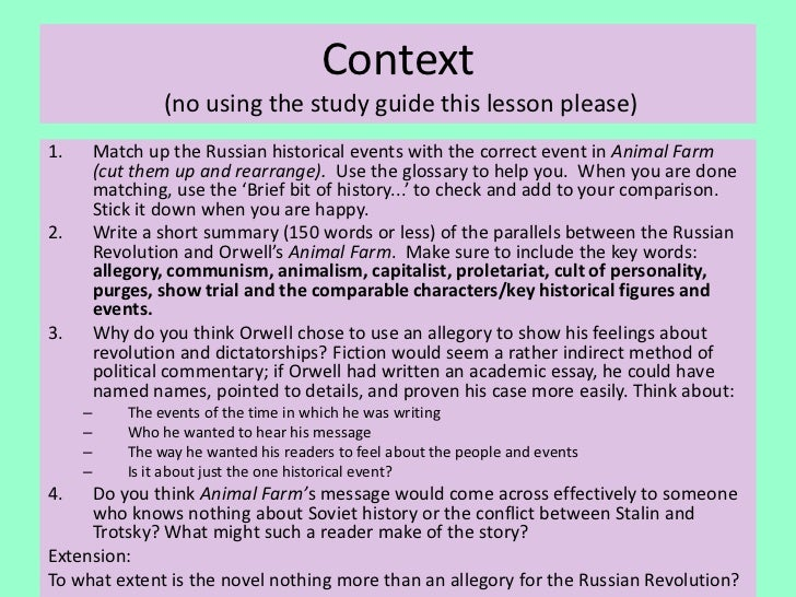 animal farm and russian revolution comparison essay