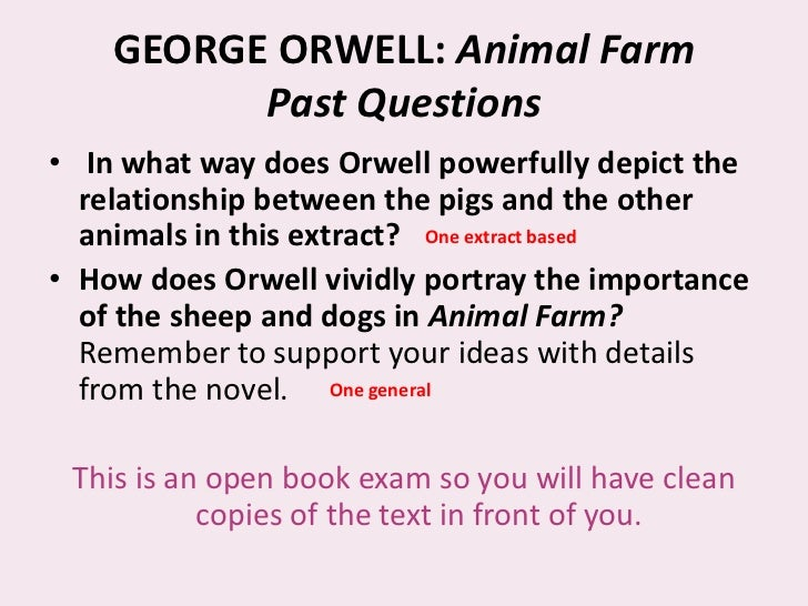 literary essay topics for animal farm
