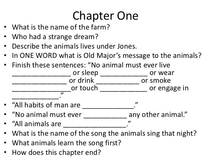 critical questions on animal farm List of the important events of animal farm and their corresponding chapters learn with flashcards, games, and more — for free.