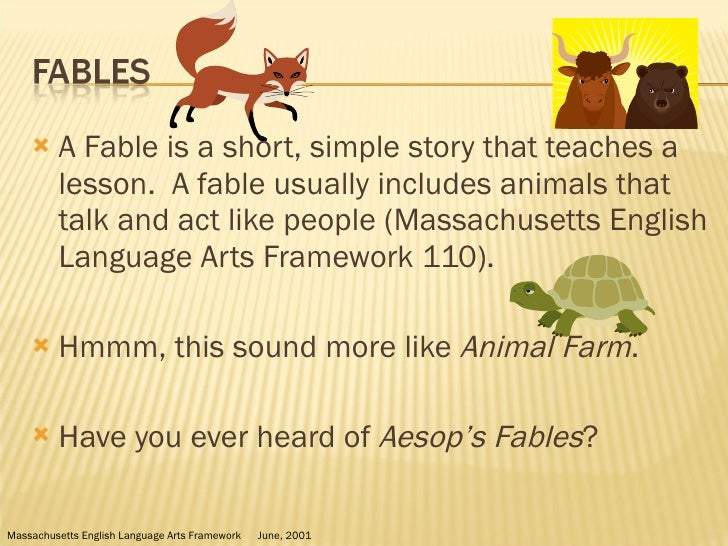 What is the difference between a short story and a fable?