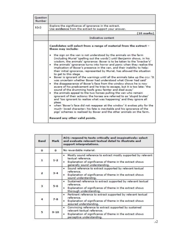 Edexcel gcse english literature animal farm past papers