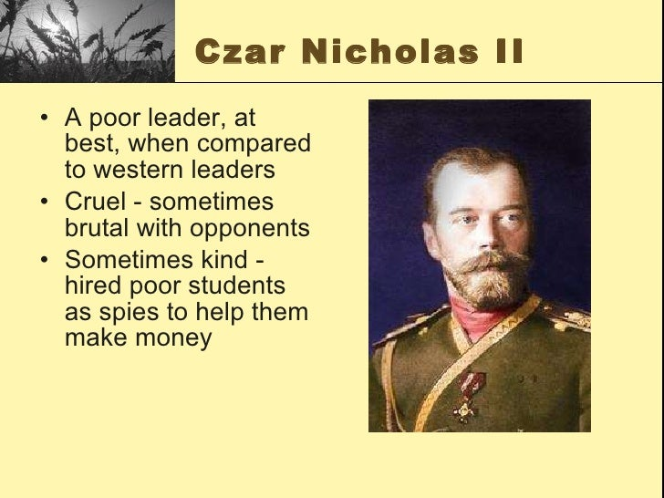 opponents of tsar The strength of the tsar • they drove opposition underground and this made it hard to catch opponents whilst they had little control over exiles such as lenin.