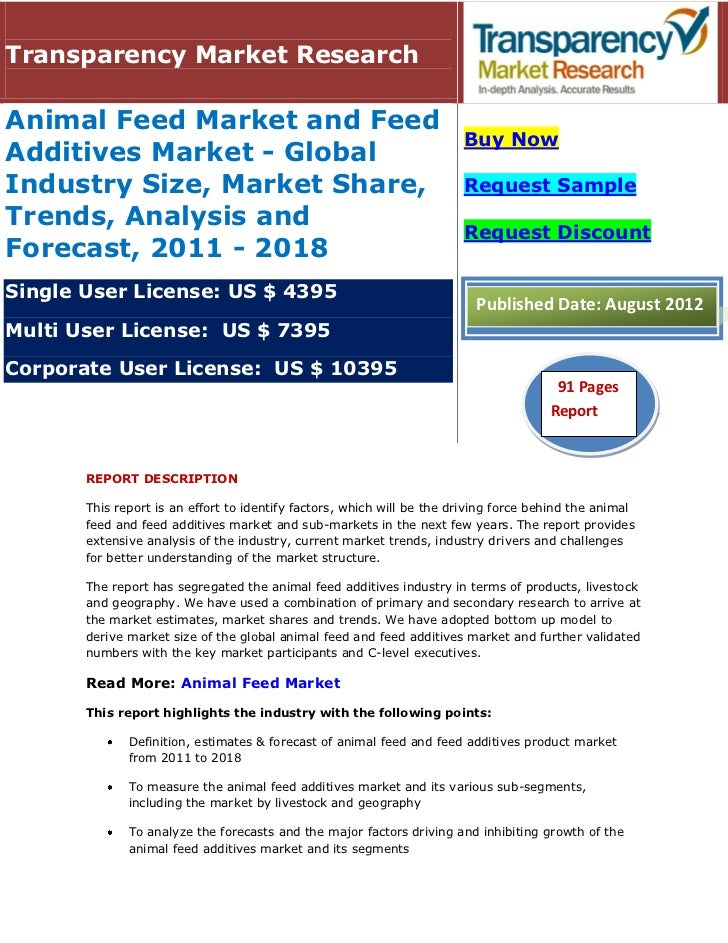 Transparency Market ResearchAnimal Feed Market and Feed                                                                   ...