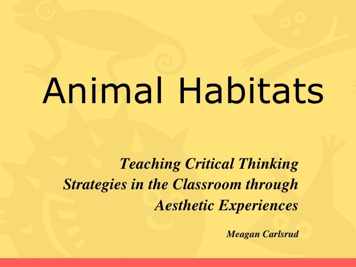 Animal Habitats           Teaching Critical Thinking  Strategies in the Classroom through                 Aesthetic Experi...