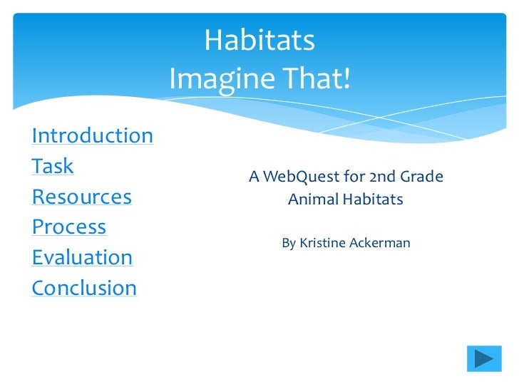 Habitats               Imagine That!IntroductionTask                A WebQuest for 2nd GradeResources               Animal...