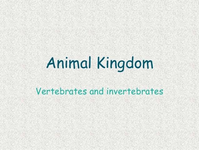 Animal kingdom: vertebrates