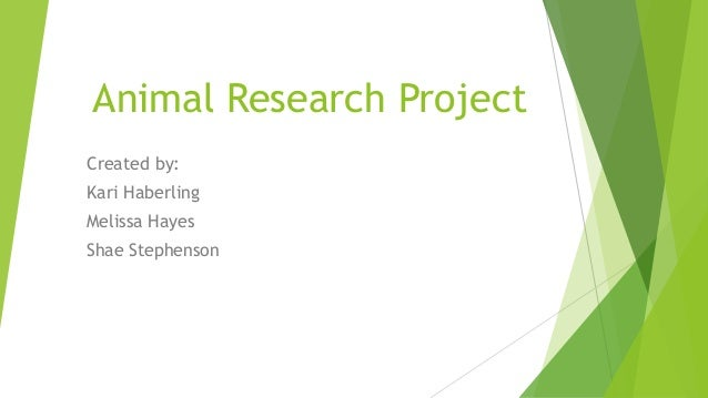 Animal Research Project Created by: Kari Haberling Melissa Hayes Shae Stephenson