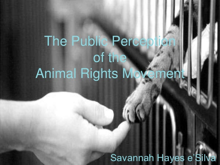 The Public Perception of the Animal Rights Movement<br />Savannah Hayes e'Silva<br />